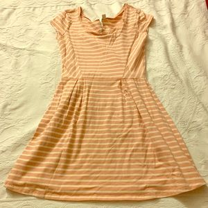 LC Lauren Conrad Striped Cotton Dress
